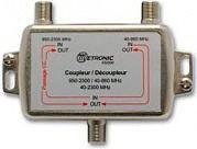 Metronic AccoppiatoreDisaccoppiatore Satellitare tv UHFVHFFM 40 432500