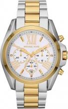 Michael Kors MK5627 Orologio Uomo Acciaio Cronografo colore Argento Oro  Bradshaw
