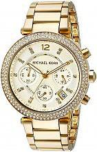 Michael Kors Orologio Uomo Acciaio color Oro al Quarzo Cronografo Cinturino 5354