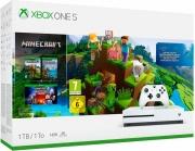 Microsoft 234-00662 Xbox One S 1 Tb + Videogioco Minecraft Creators Bianco