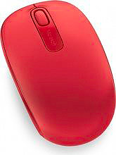 Microsoft Mouse Ottico Wireless 2 Tasti Rosso Wireless Mobile Mouse 1851