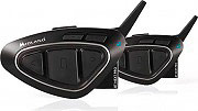 Midland C1222.05 Interfono moto Casco Bluetooth set 2 Pezzi  Bt Next Pro Twin
