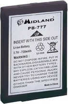Midland C783 Accessorio Batteria PB-777