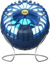 Moel MOON 3688B Lampada Anti Zanzare Zanzariera Elettrica Sistema Aspirante Blu