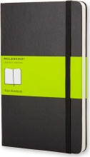 Moleskine QP012 Taccuino Formato Pocket Pagine Bianche Con Copertina Rigida Nera