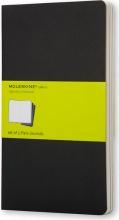 Moleskine QP313 Confezione 3 Cahierjournal Pocket Black Plain