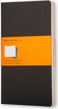 Moleskine QP316 Confezione 3 Cahier Journal Large Black Ruled