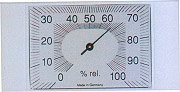 Moller Therm 204601 Igrometro con cassa in ABS dimensioni 14x7 cm
