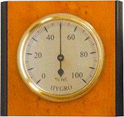 Moller Therm 301341 Igrometro con cassa in Legno dimensioni 9,5X8,5 cm