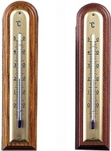 Moller 101440 Termometro Legno Arrot. Noce Chiaro