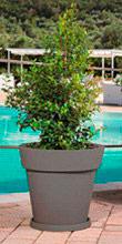 Monacis V1426 Sottovaso per vaso modello gemma ø 35 cm colore Grigio