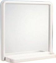 Mosaico 2025 Specchio Bagno con Mensola Quadrato 50x51 cm Cornice bianca