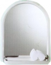 Mosaico 2026 Specchio Bagno con Mensola ad Arco 53x63 cm Cornice bianco