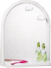 Mosaico 2028 Specchio Bagno con Mensola Faretti Arco 53x63 cm Cornice bianco