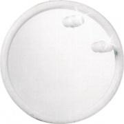 Mosaico 2029 Specchio Bagno Rotondo Faretti Diametro 50 cm Cornice bianca