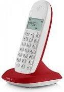 Motorola C1001L CHERRY Telefono cordless DECT 50 Voci Rubrica Sveglia Cherry C1001L