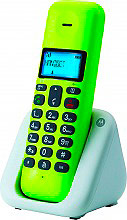 Motorola T301+LI Telefono cordless DECT GAP con Vivavoce Id chiamate Lime