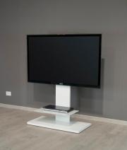 Munari KT 090 BIO Colonna porta TV con ruote Laccato Bianco 90x115x45 cm