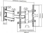 """Munari SP 754 Supporto monitor parete Fino a 65"""" VESA MAX 400 x 400"""