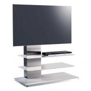 Munari SY 342 BI Colonna porta TV con ruote Satinatio e Bianco 90x107x50 cm