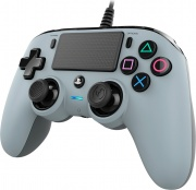 NACON Wired Compact Controller Gamepad PlayStation 4 Pulsante Condividi Cablato Grigio PS4OFCPADGREY