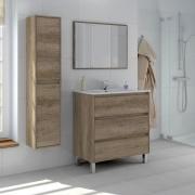 NBrand 305050H Mobile sotto lavabo bagno MDFPVC 80x45x86h cm + Specchio