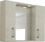 NBrand 4196 LED BN Mobile Specchio bagno con Ante legno 77x16x57h cm Rovere 960