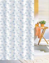 NBrand 5044 D Tenda da Doccia 120x200 con Anelli colore Bianco Fantasia a Fiori