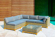 NBrand GCVI17031V04C Salotto giardino Polirattan Salottino esterno Set giardino 4P GCVI17 Bali