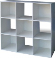 NBrand PAX9W Libreria Cubo Scaffale 9 Vani legno 91x30x91h cm Bianco