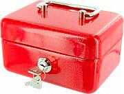NBrand PValori Cassetta Porta Valori in Metallo con Chiave dimensioni 15 x 11 x 8 H cm