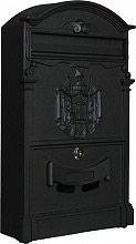 NBrand Regia Posta Cassetta Postale Vintage con serratura a cilindro colore Nero