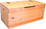 NBrand S01-01-12 Cassapanca legno giardino Baule Pino 100x40x50h cm  Large