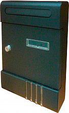 NBrand posta_condominio Cassetta Postale in Acciaio per Pubblicità Orizzontale colore Antracite