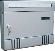 NBrand Cassetta Postale per Pubblicità Orizzontale colore Silver