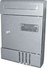 NBrand posta_condominio Cassetta Postale in Acciaio per Pubblicità Orizzontale colore Silver