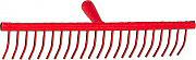 NBrand rastrello_20 Rastrello in ferro per fieno 20 denti tondi larghezza 69 cm