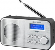 NEW MAJESTIC 109194 Radio Digitale DAB Portatile Radio FM Nero Silver  RT-194 DAB