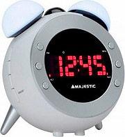 NEW MAJESTIC RS-105 Radio sveglia Digitale FM Proiezione dell'ora Bianco
