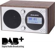 NEW MAJESTIC 109162 Radiosveglia Digitale DAB+ Funzioni Snooze e Sleep Legno WR-162 DAB