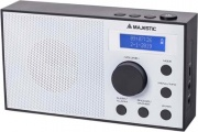 NEW MAJESTIC 109193 Radio Portatile DAB FM Digitale Display LCD Bianco  RT-193DAB