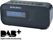 NEW MAJESTIC 119115 Radiosveglia Digitale DAB+ Funzioni Snooze e Sleep Nero RS-115 DAB