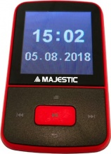 NEW MAJESTIC 128484 Lettore Mp3 Bluetooth Micro SD 8 GB Nero Rosso  BT-8484R MP3