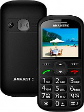 NEW MAJESTIC 300031 BK Sileno 31 Telefono Cellulare GSM Tasti grandi Tasto SOS Nero 300031