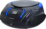 NEW MAJESTIC Radio Stereo Portatile Boombox CD Mp3 Aux USB Radio AH225BKCB