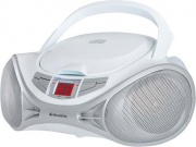 NEW MAJESTIC AH-1262R AX Boombox Stereo Digitale Lettore CD Aux Bianco