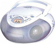 NEW MAJESTIC Radio portatile Lettore CD Stereo Boombox 2 Watt AUX AH-1266 AX  WHSL