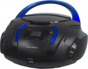NEW MAJESTIC AH-225R MP3 Boombox Lettore CD Mp3 Aux USB Stereo Nero
