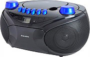 NEW MAJESTIC Radio Portatile Boombox Lettore CD MP3 Radio FM USB AH-2287 BKCB