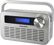 NEW MAJESTIC DAB-843 WHAL Radiosveglia Digitale DAB FM Funzione Sveglia Snooze Bianco DAB-843